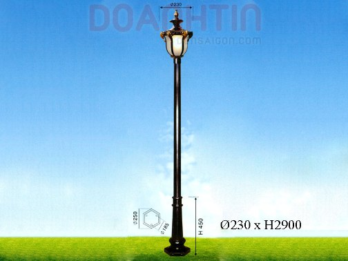 Đèn Trụ Sân Vườn Kiểu Dáng Nhẹ Nhàng - Densaigon.com