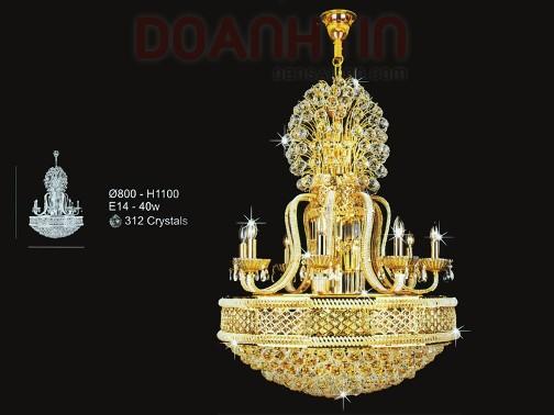 Đèn Chùm Pha Lê Nến Cỡ Lớn Thể Hiện Đẳng Cấp - Densaigon.com