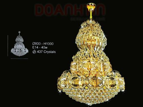 Đèn Chùm Pha Lê Phòng Khách Phong Cách Đẹp - Densaigon.com