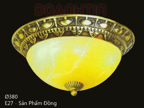 Đèn Áp Trần Cổ Điển Đế Đồng Thiết Kế Đẹp - Densaigon.com