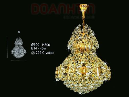 Đèn Chùm Pha Lê Đẹp Trang Trí Phòng Khách - Densaigon.com