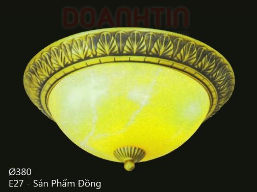 Đèn Áp Trần Cổ Điển Đế Đồng Thiết Kế Tao Nhã - Densaigon.com