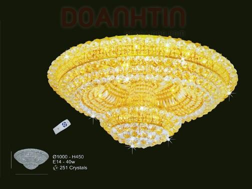 Đèn Chùm LED Pha Lê Trang Trí Nội Thất - Densaigon.com