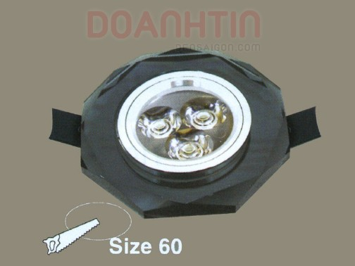 Đèn Mắt Ếch Pha Lê Màu Đen - Densaigon.com