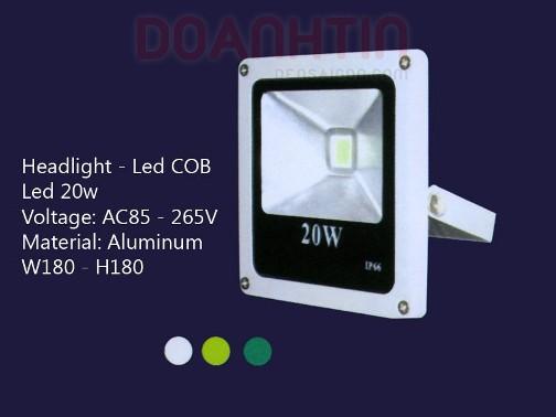 Đèn Pha LED COB 20W S2711 - Densaigon.com
