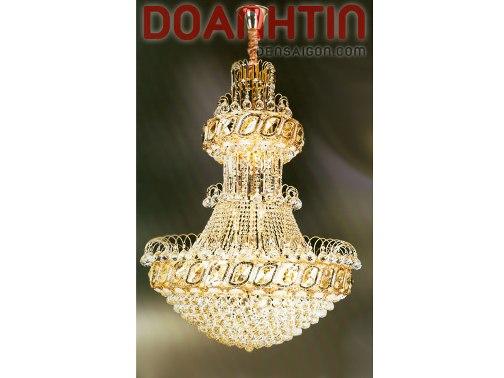 Đèn Chùm Pha Lê Phòng Khách Phong Cách Cổ Điển - Densaigon.com