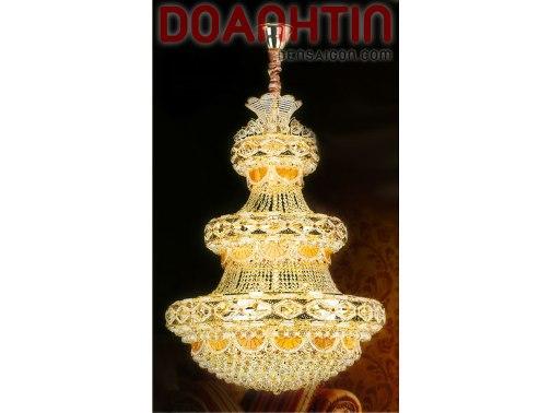 Đèn Chùm Pha Lê Tráng Lệ Treo Phòng Khách - Densaigon.com