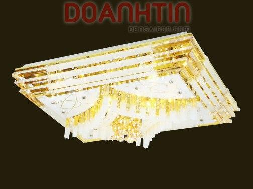 Đèn Chùm LED Chữ Nhật Phong Cách Hoàng Gia - Densaigon.com