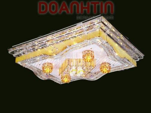 Đèn Chùm LED Chữ Nhật Trang Trí Nội Thất Biệt Thự - Densaigon.com