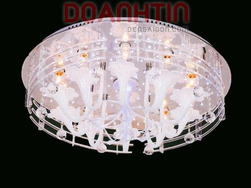 Đèn Chùm LED Tròn Cảm Ứng Nhạc Kiểu Hiện Đại - Densaigon.com