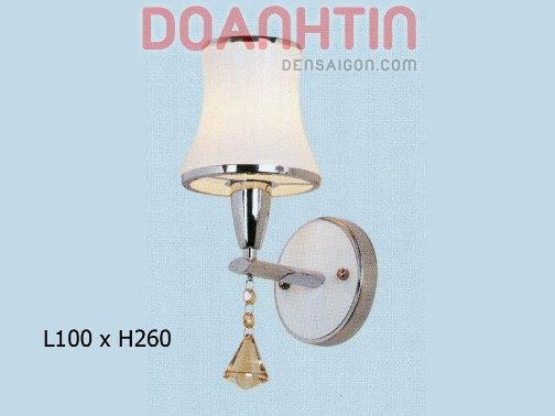 Đèn Tường Inox Thiết Kế Nhẹ Nhàng - Densaigon.com