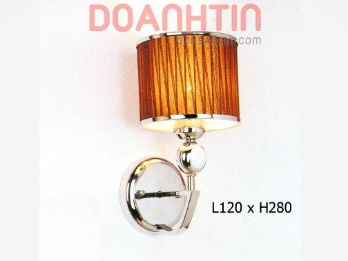 Đèn Tường Inox Kiểu Chụp Dù Thiết Kế Cổ Điển - Densaigon.com