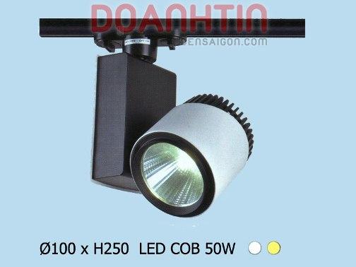 Đèn Thanh Ray LED COB 50W có quạt tản nhiệt - Densaigon.com
