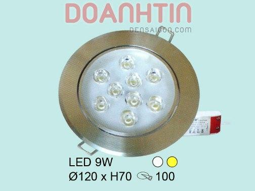 Đèn Mắt Trâu LED Thiết Kế Bắt Mắt mặt sơn trắng - Densaigon.com