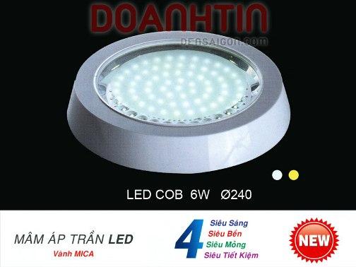 Đèn Mâm Áp Trần LED Thiết Kế Đơn Giản - Densaigon.com