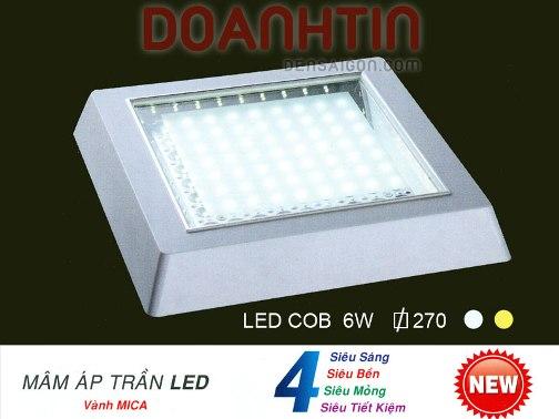 Đèn Mâm Áp Trần LED Kiểu Dáng Trang Nhã - Densaigon.com