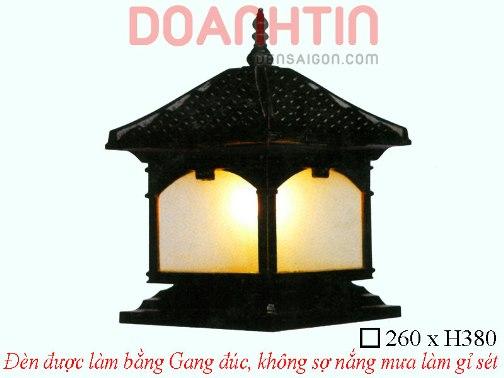 Đèn Cổng Đẹp Cao Cấp Màu Đen - Densaigon.com