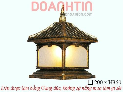 Đèn Cổng Gang Giả Đồng Cao Cấp Thiết Kế Lôi Cuốn - Densaigon.com
