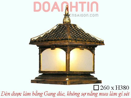Đèn Cổng Gang Giả Đồng Cao Cấp Thiết Kế Ấn Tượng - Densaigon.com