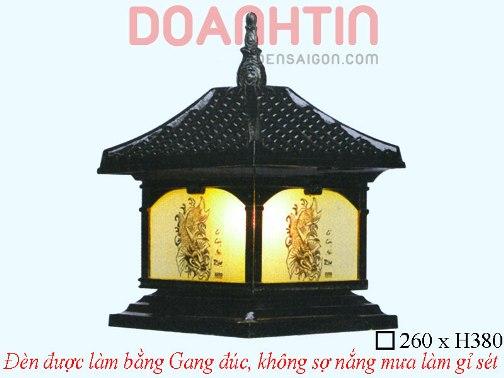 Đèn Cổng Gang Đúc Cao Cấp Thiết Kế Cổ Điển - Densaigon.com