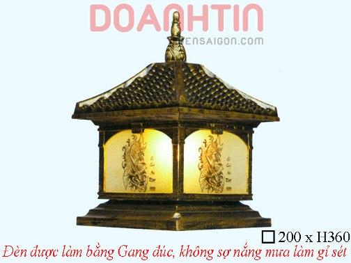 Đèn Cổng Giả Đồng Cao Cấp Thiết Kế Nổi Bật - Densaigon.com