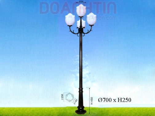 Đèn Trụ Công Viên Kiểu Dáng Hiện Đại - Densaigon.com