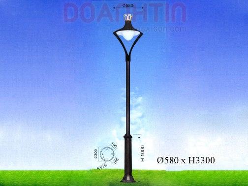 Đèn Trụ Sân Vườn Đẹp Kiểu Dáng Đơn Giản - Densaigon.com