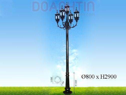 Đèn Trụ Công Viên Đẹp Kiểu Dáng Cổ Điển - Densaigon.com