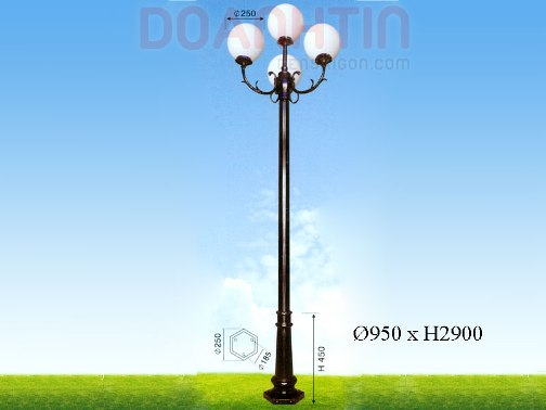 Đèn Trụ Khuôn Viên Đẹp Kiểu Dáng Hiện Đại - Densaigon.com