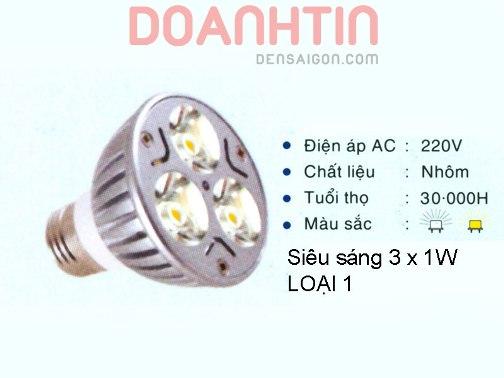 Bóng Chén LED Trang Trí Phòng Khách - Densaigon.com