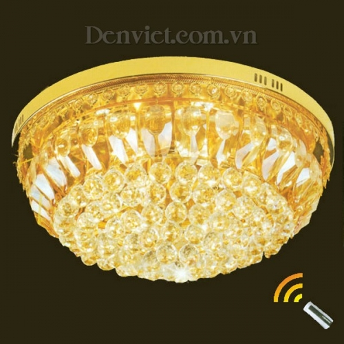 Đèn Chùm LED Pha Lê Trang Trí Phòng Khách Đẹp - Densaigon.com