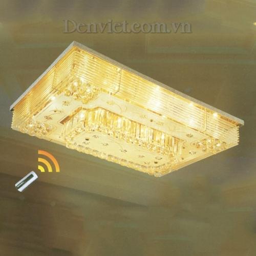 Đèn Chùm LED Pha Lê Hình Chữ Nhật Treo Phòng Ăn - Densaigon.com