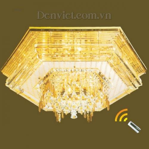Đèn Chùm LED Pha Lê Hình Lục Giác Đẹp Treo Phòng Khách