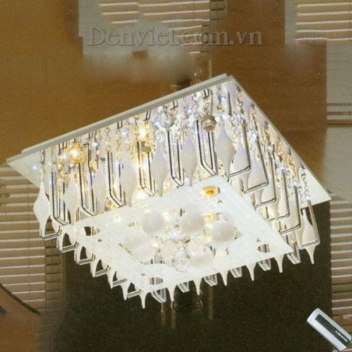 Đèn Chùm LED Vuông Lung Linh Treo Phòng Khách - Densaigon.com