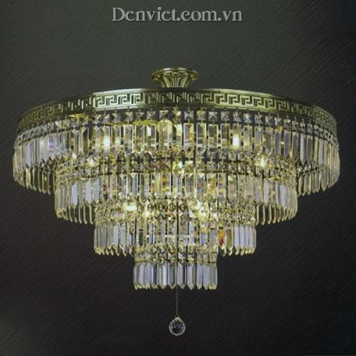 Đèn Chùm Pha Lê LED Kiểu Dáng Ấn Tượng Dạng Tầng - Densaigon.com