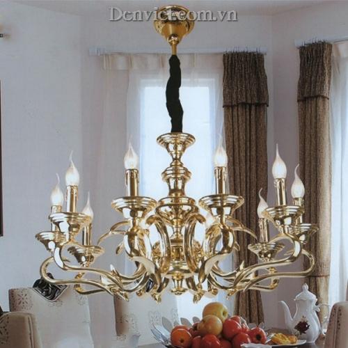 Đèn Chùm Đồng Mạ Vàng 24k FMD9625-10
