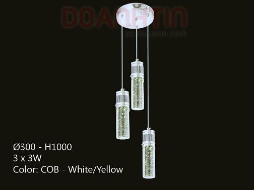 Đèn Thả Pha Lê Phong Cách Sang Trọng - Densaigon.com