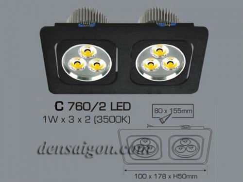 Đèn Ếch Vuông Đôi Màu Đen - Densaigon.com