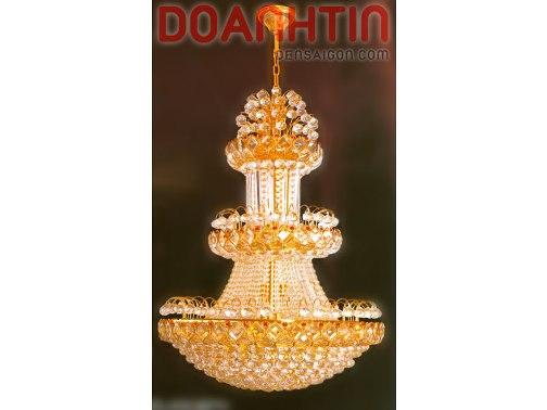 Đèn Chùm Pha Lê Tầng Treo Phòng Khách Đẹp - Densaigon.com