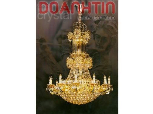 Đèn Chùm Pha Lê Nến Cỡ Lớn Phong Cách Hoàng Gia - Densaigon.com