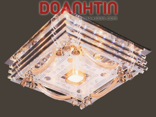 Đèn Chùm LED Vuông Thiết Kế Hiện Đại Treo Phòng Ngủ - Densaigon.com