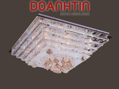 Đèn Chùm LED Vuông Đẹp Giá Rẻ Treo Phòng Khách - Densaigon.com