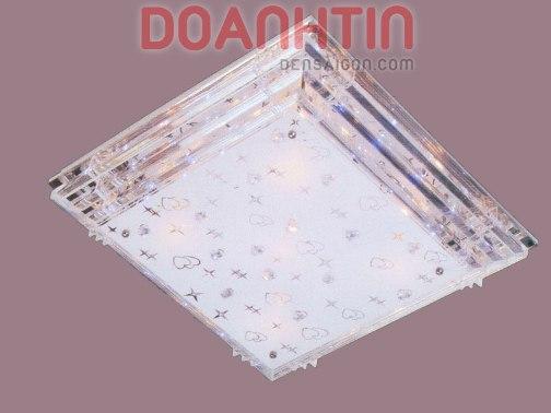 Đèn Chùm LED Chữ Nhật Đẹp Kiểu Áp Trần - Densaigon.com