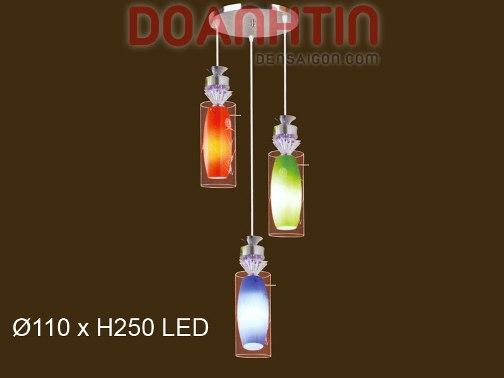 Đèn Thả Thủy Tinh 3 Màu - Densaigon.com