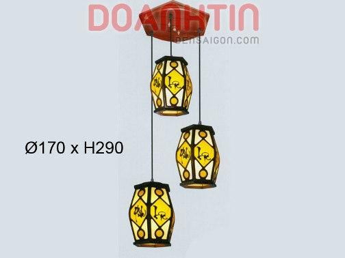 Đèn Thả Da Dê Kiểu Dáng Tinh Xảo - Densaigon.com