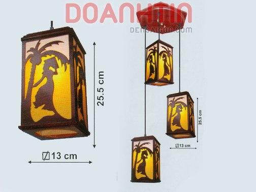 Đèn Thả Da Dê Kiểu Dáng Cầu Kỳ - Densaigon.com