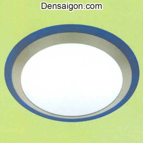Đèn Áp Trần Tròn Viền Xanh - Densaigon.com