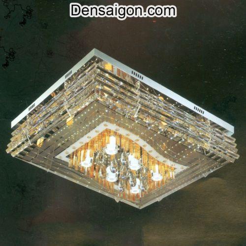 Đèn Áp Trần Pha Lê LED Cao Cấp Treo Phòng Khách - Densaigon.com