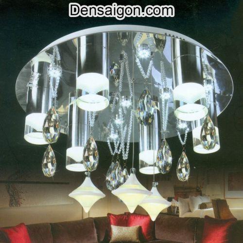 Đèn Chùm LED Pha Lê Phong Cách Sang Trọng - Densaigon.com