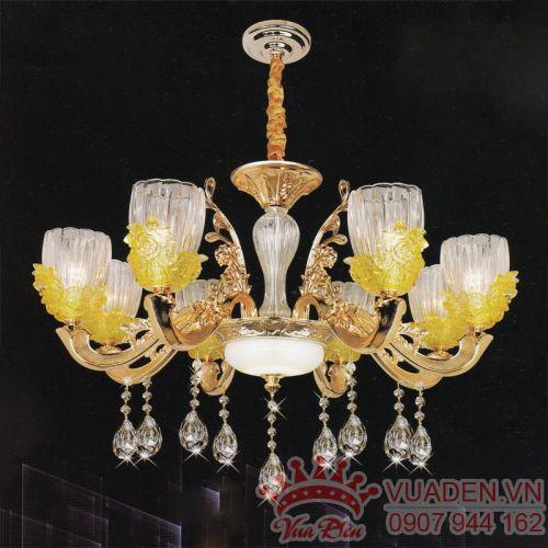 Đèn chùm chao hình bông hoa trang trí phòng khách đẹp - Densaigon.com